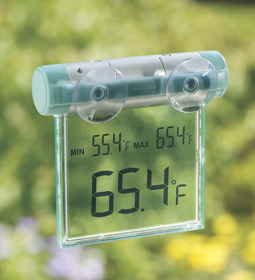 Easy To Read Weather Resistant Outdoor Digital Window Thermometer